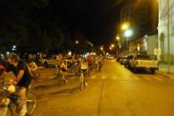 Se realizó la bicicleteada nocturna