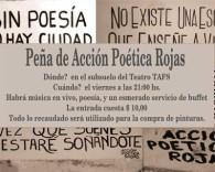 Peña a beneficion de Acción Poética Rojas