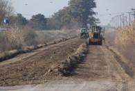 La vial realiza trabajos en los caminos