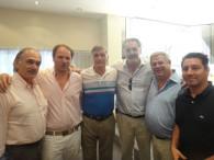 Santiago con Ernesto Sanz y Hermes Binner