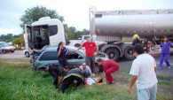 Accidente en el cruce de rutas 188 y 32