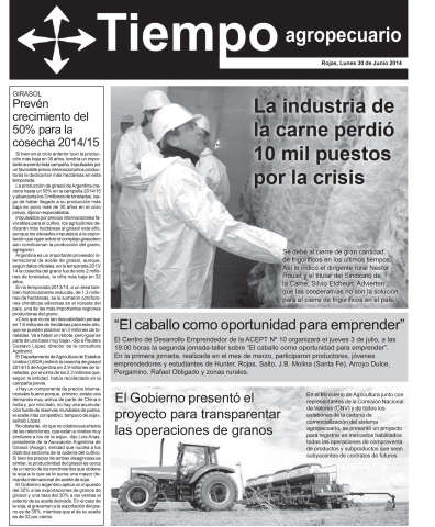 Tapas del semanario Tiempo de Noticias 30 de Junio