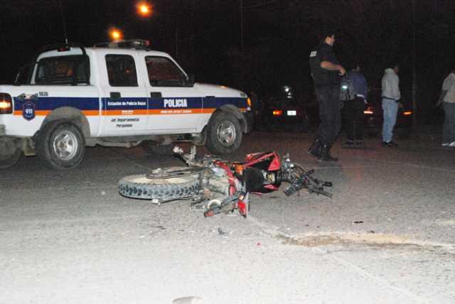 Motociclista sufrió graves heridas en accidente