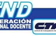 La Federación Nacional Docente convoca a renacionalizar el conflicto el 17 con la CTA