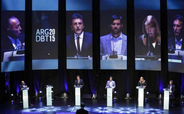 Sin Scioli, debatieron los candidatos a Presidente de la nación