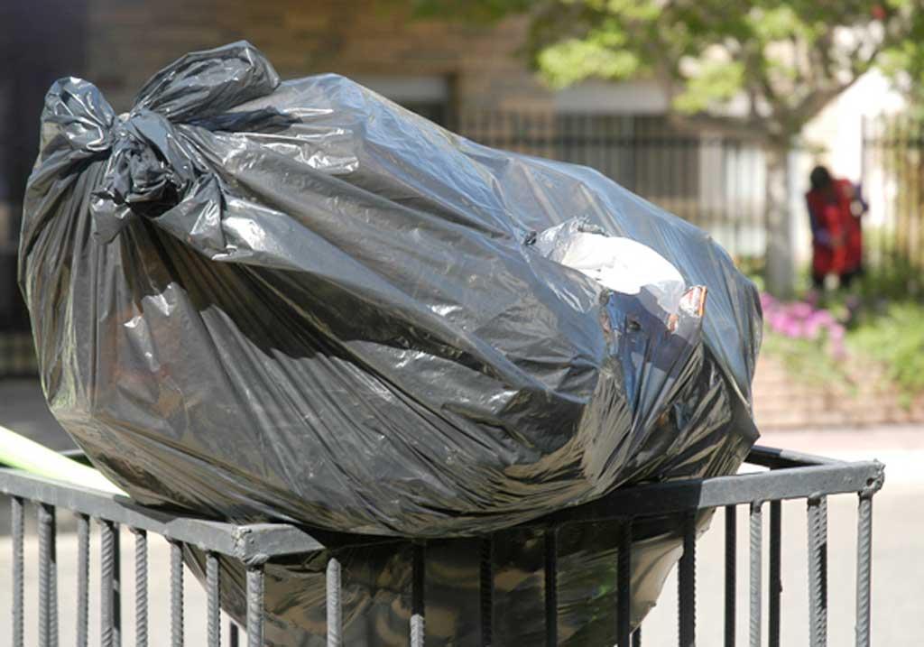 Recolección de residuos, montículos y barrido para el fin de semana