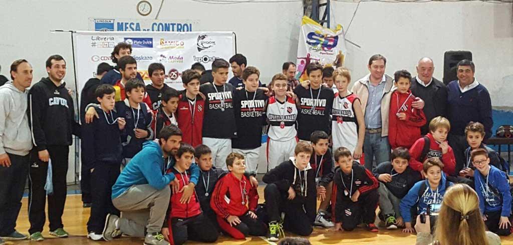 Básquet: los chicos de Sportivo presentes en un encuentro nacional en Lincoln