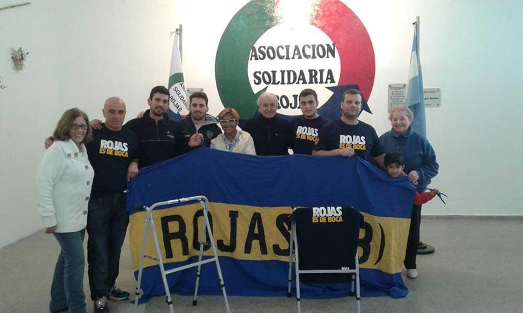 Actividades sociales de la Peña Rojas es de Boca