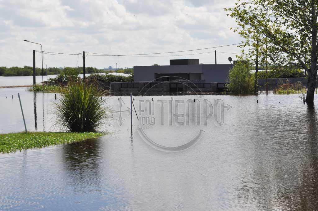 Desbordó el Río Rojas: hay evacuados y puentes cortados
