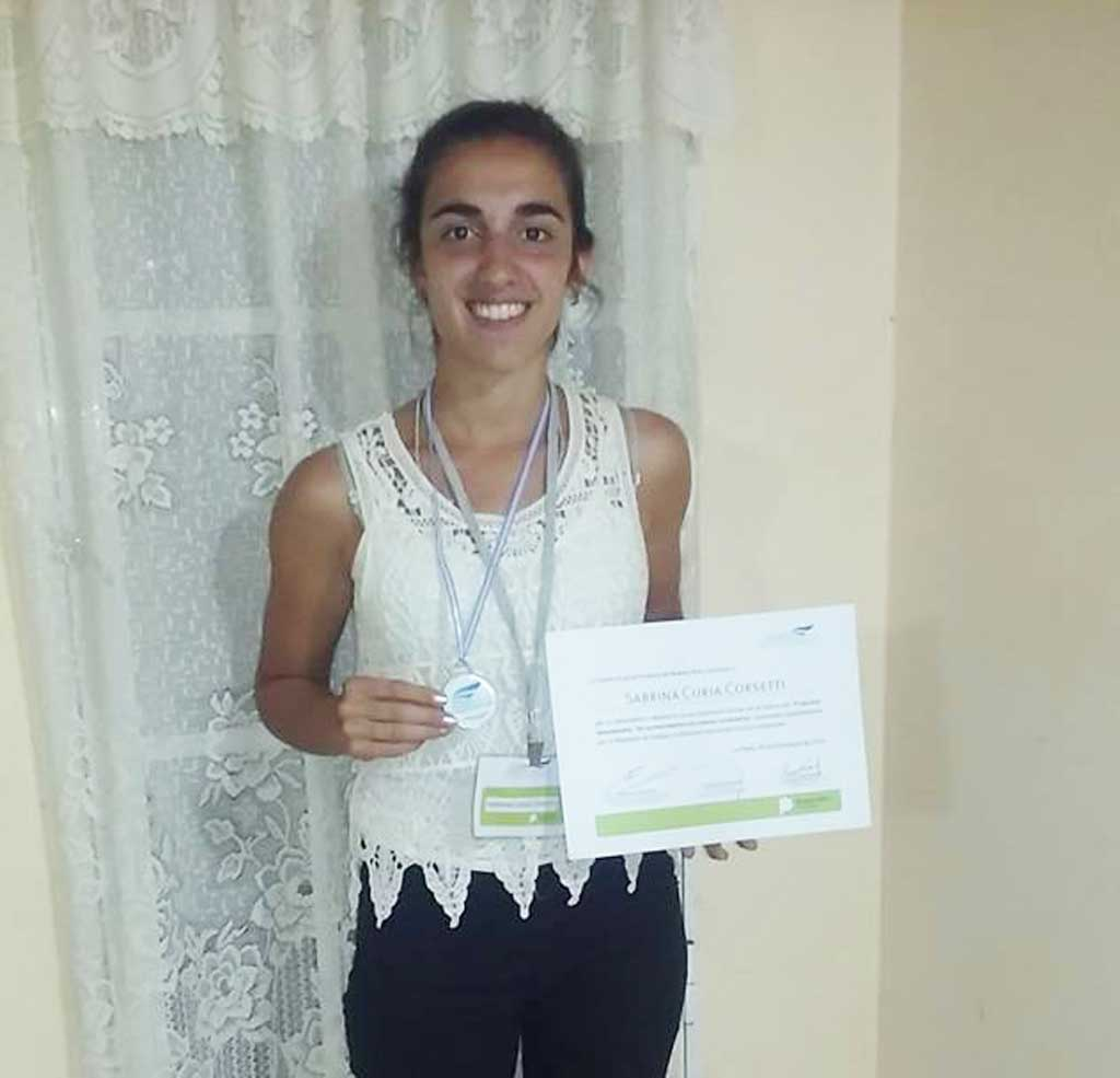 María Eugenia Vidal premió a la carabelense Sabrina Curia Corsetti