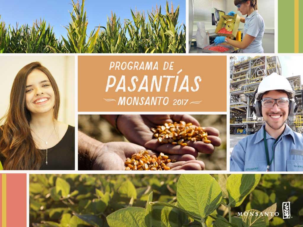 Monsanto lanza su programa de Pasantías 2017