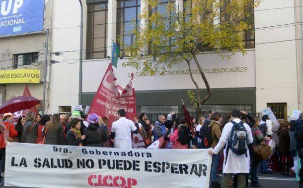 Médicos nucleados en la Cicop paran en reclamo de paritarias