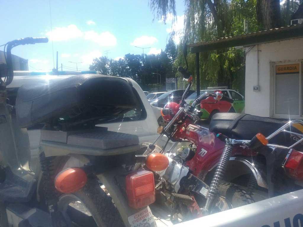 Logran secuestrar dos motocicletas sustraídas