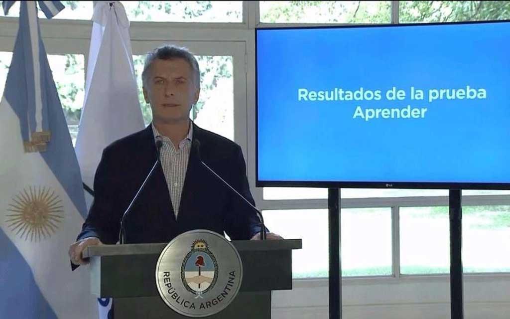 """Evaluación Aprender: Macri calificó de """"muy malos"""" sus resultados"""