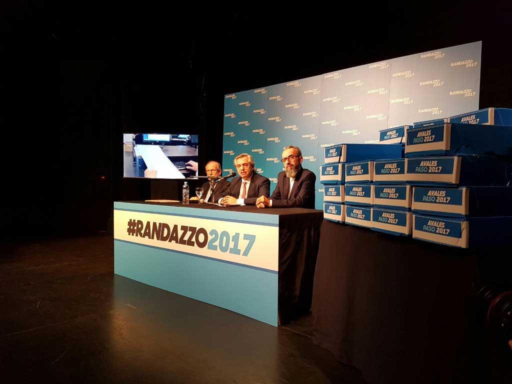Randazzismo presentó avales para competir en las internas del PJ