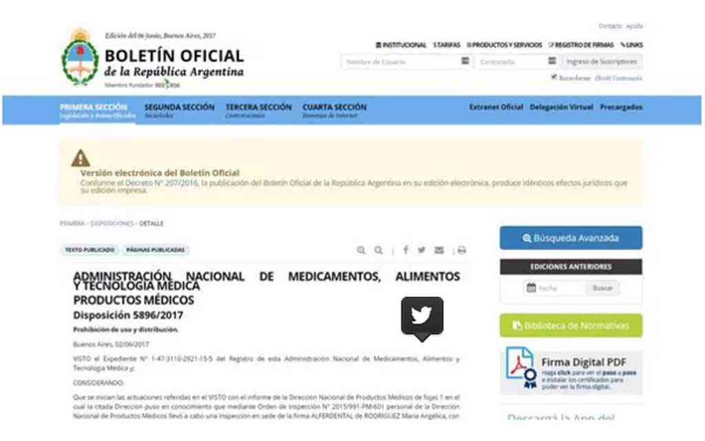 La ANMAT prohibió el uso y la distribución de un producto médico