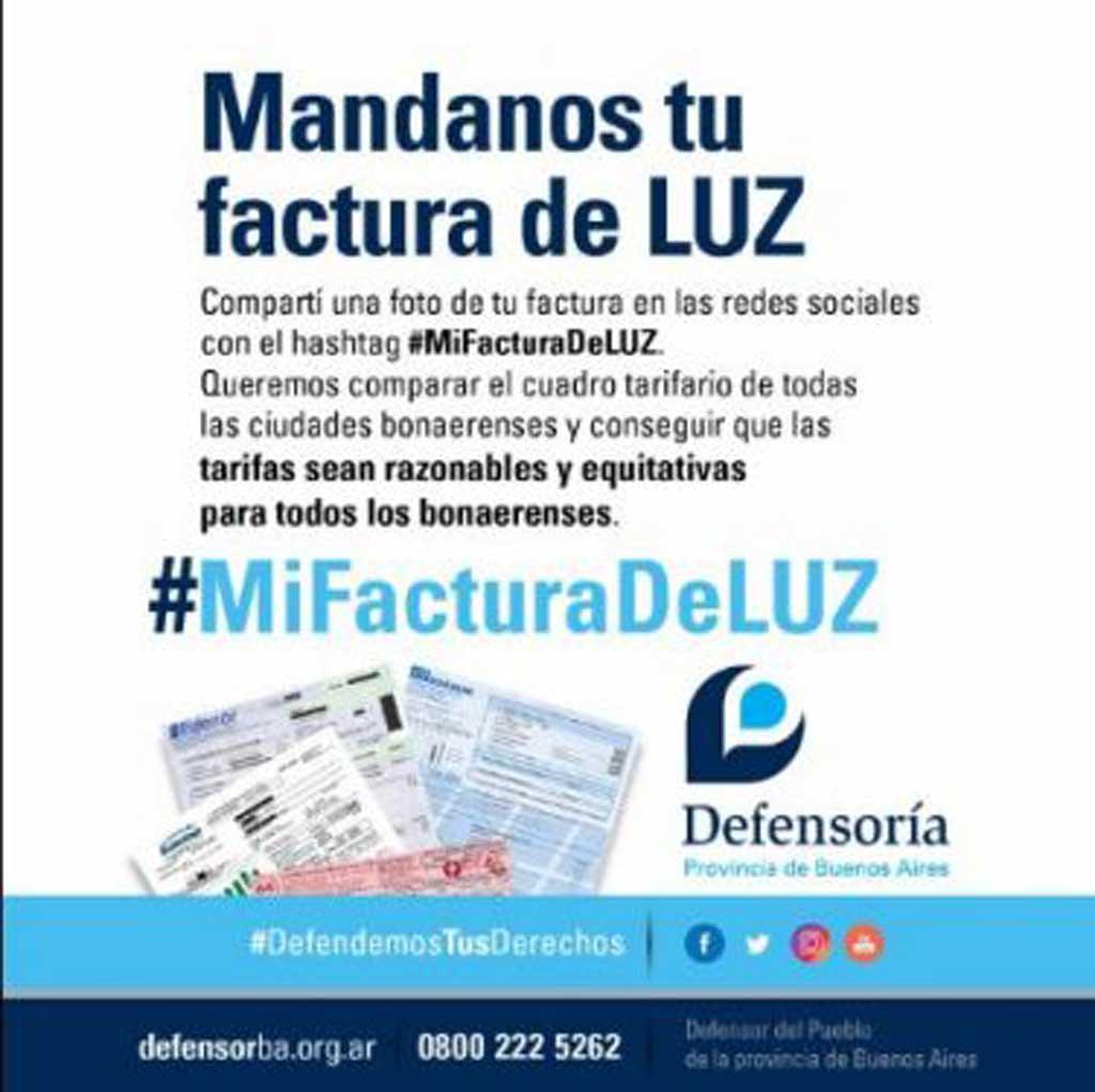 Lanzaron la campaña #MiFacturaDeLuz