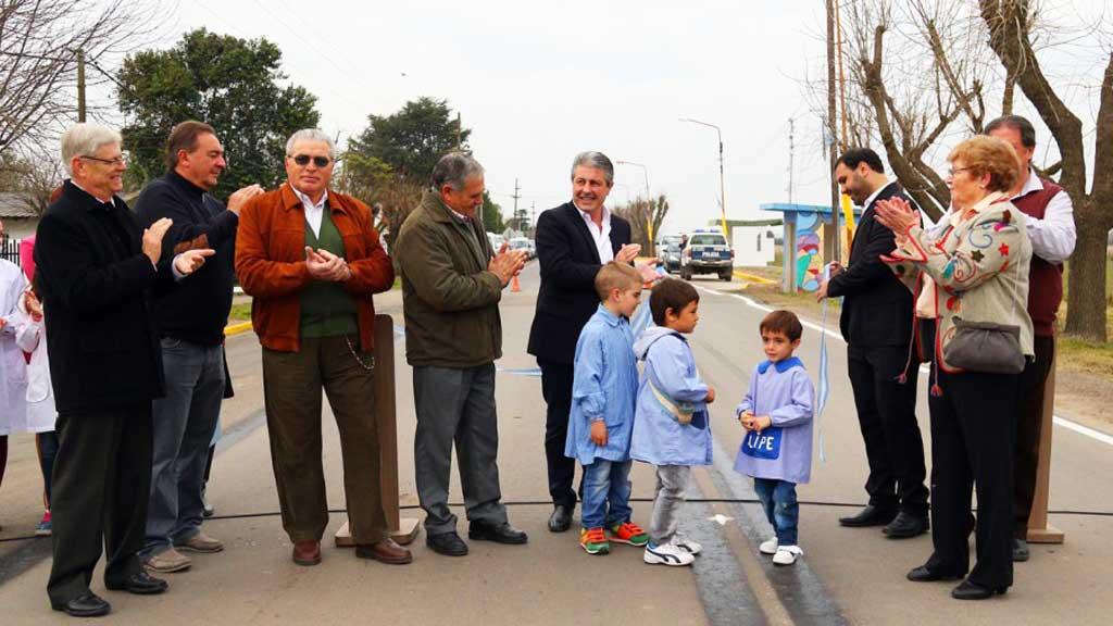 Se inauguró la repavimentación del acceso a Mariano H. Alfonzo
