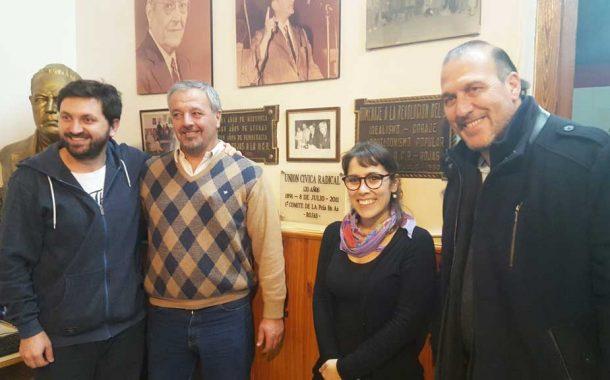 Josefina Mendoza y Pablo Juliano, pre candidatos de Cambiemos, estuvieron en Rojas