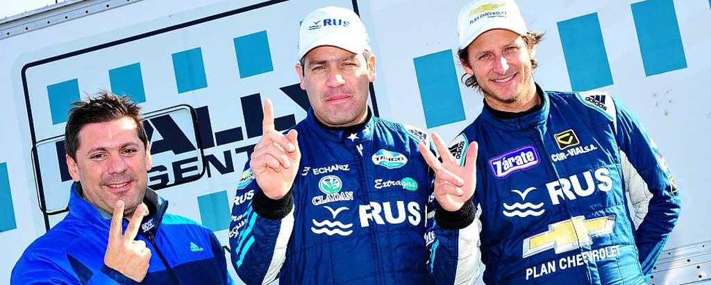 Rally Argentino: 1-2-3 para
