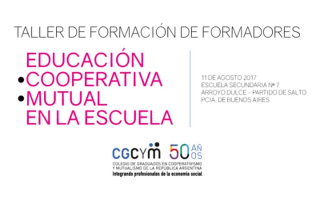 Taller de Formación de Formadores de Cooperativismo y Mutualismo en el ámbito educativo