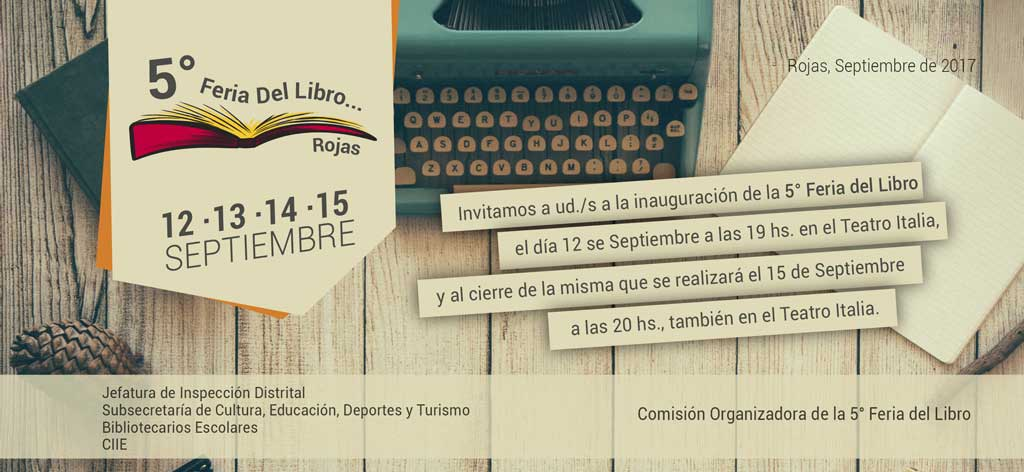 Se pone en marcha la 5ta. Feria del Libro de Rojas