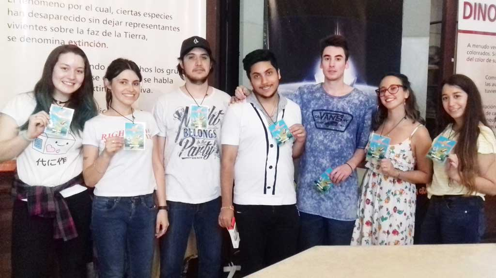 """La rojense Micaela Romera Jué entre los alumnos que presentaron """"La gran extinción"""" en el Museo de Ciencias Naturales"""