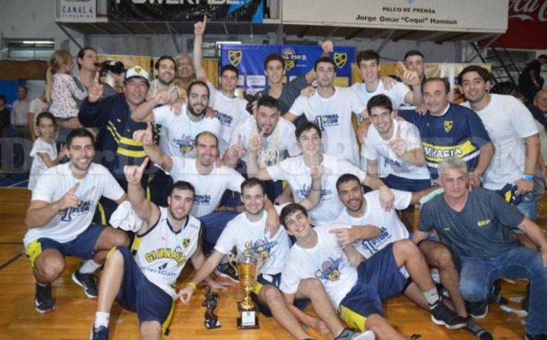 Gimnasia, con Pablo Danloy, es el nuevo campeón del Provincial de Clubes de basquetbol