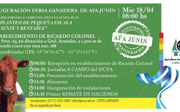 Agricultores Federados Argentinos inaugura su feria ganadera en Junín