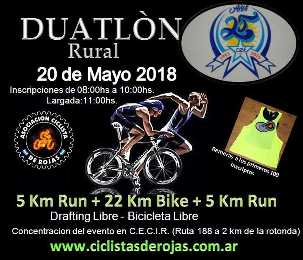 Duatlón rural, este domingo, por caminos rurales