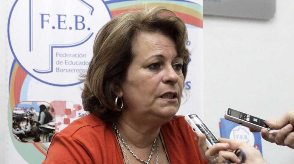 """Petrocini: """"El supuesto diálogo es para los medios, a los docentes no nos reciben"""""""