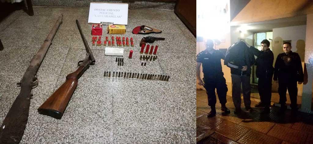 Carabelas: En allanamiento secuestran revolver calibre 32, una escopeta calibre 28 y un pistolón