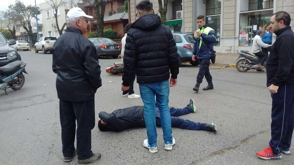 Accidente en avenida 25 de Mayo e Italia