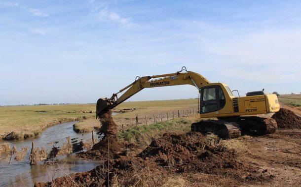 Comenzó la construcción de la alcantarilla en Hunter