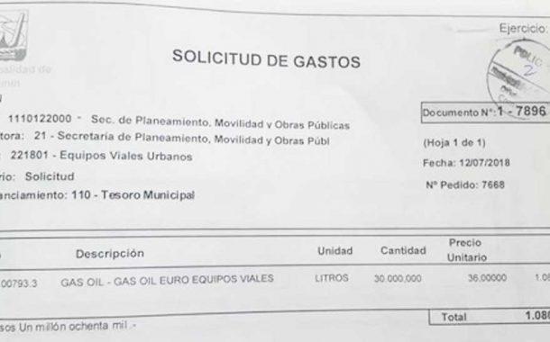 Documentos confirman sobreprecios en la compra de combustible en Junín