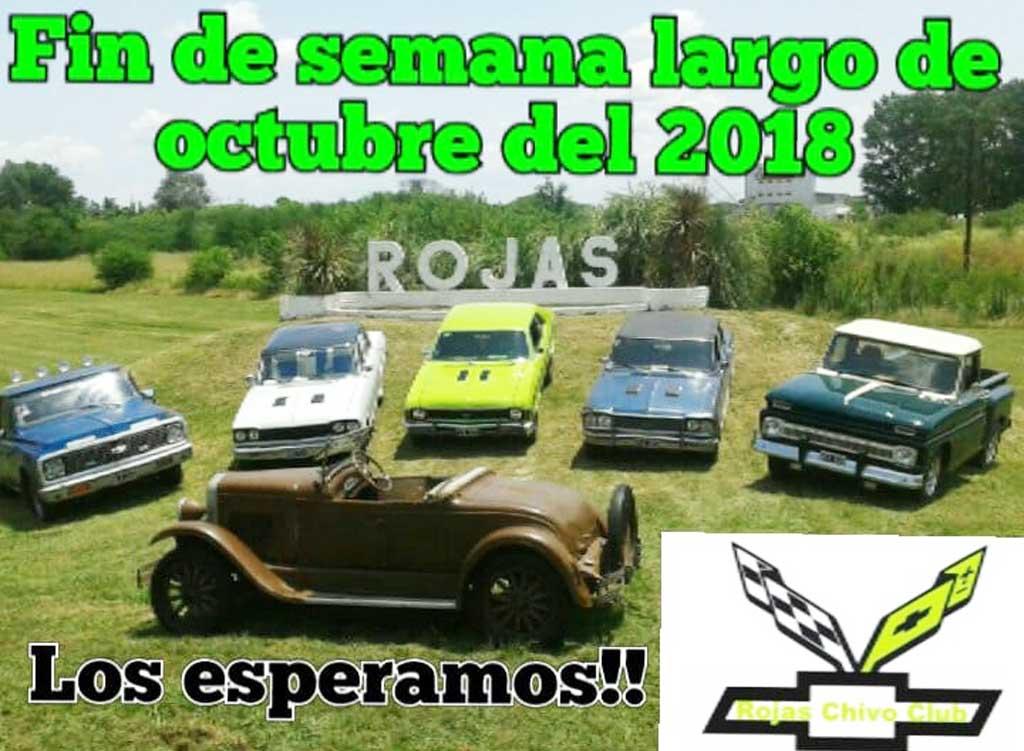 En octubre se realizará el segundo encuentro nacional Chevrolet en Rojas