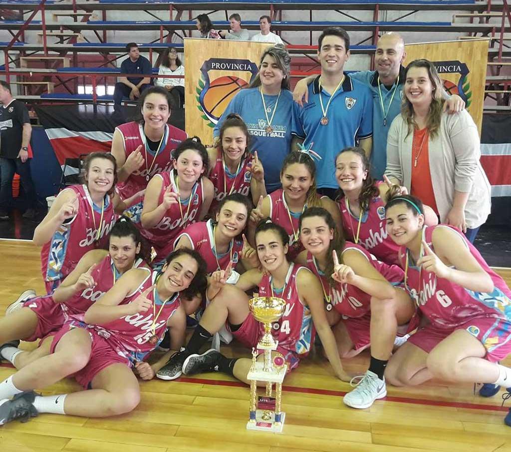 Bahía Blanca se consagró campeón del provincial de básquet femenino U19