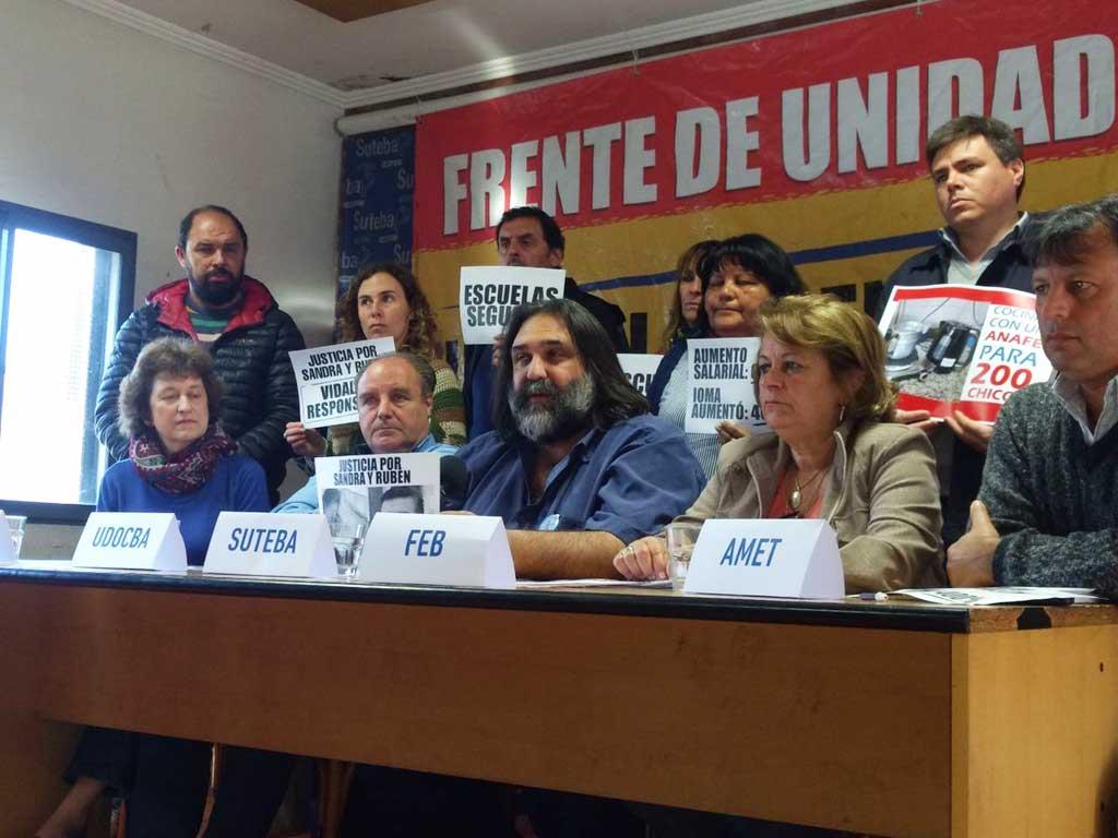 El Frente de Unidad Docente anunció un paro de 48 horas desde el lunes