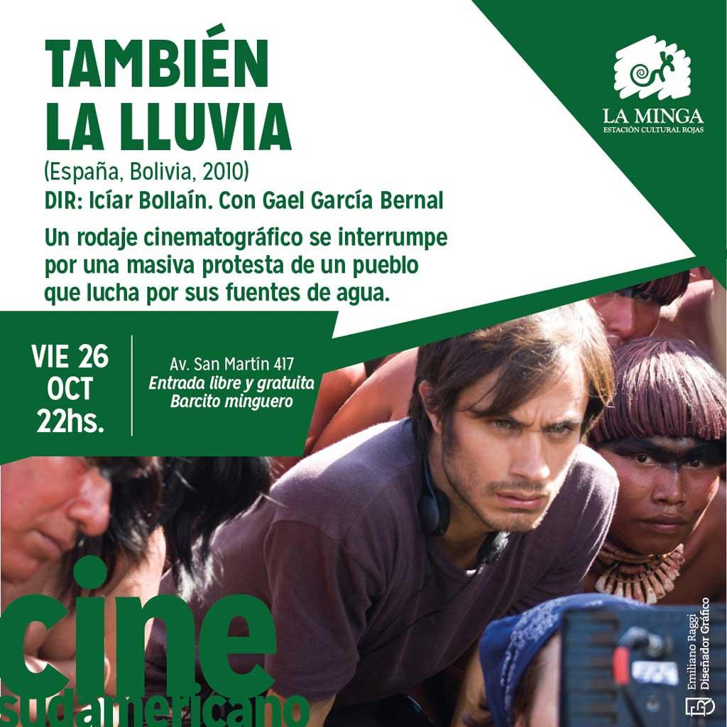 """""""También la lluvia"""" en el Cine Club en La Minga"""