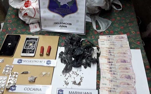 Cayó un vendedor de cocaína que operaba en Junín y Rojas