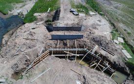 Así se ve la construcción del puente de Hunter