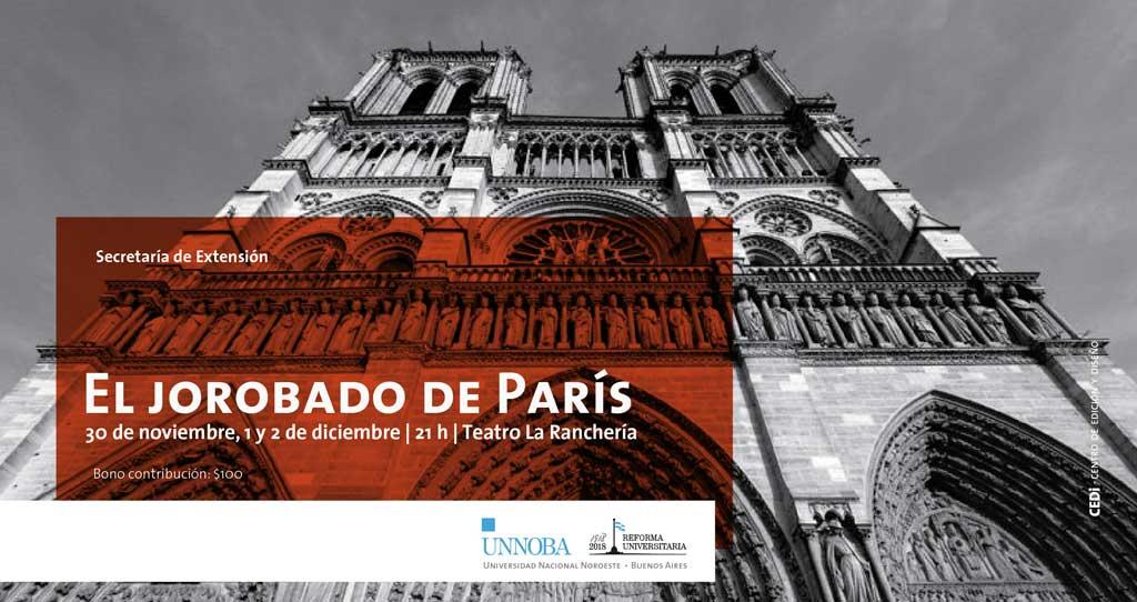 El jorobado de París, comedia musical se presenta en Junín