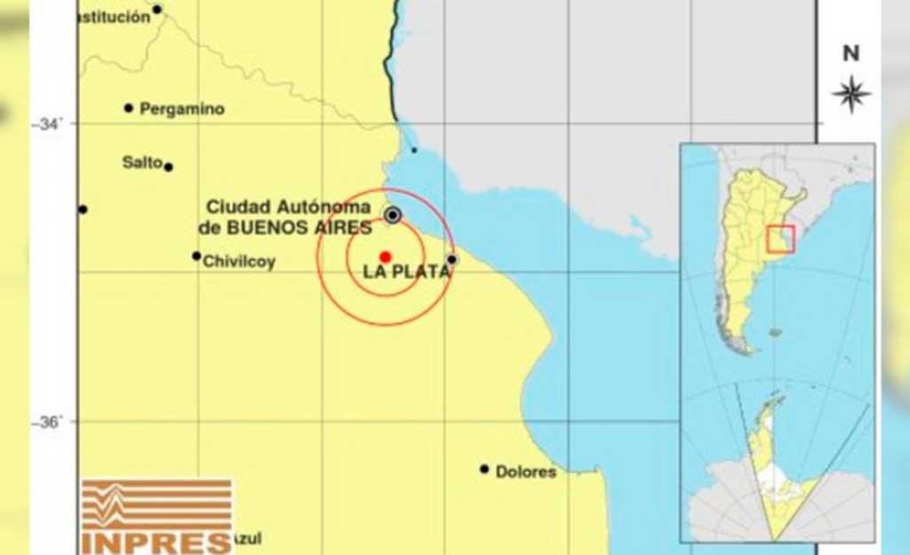 Temblor 3,8 en La Plata, Gran Buenos Aires y ciudad de Buenos Aires