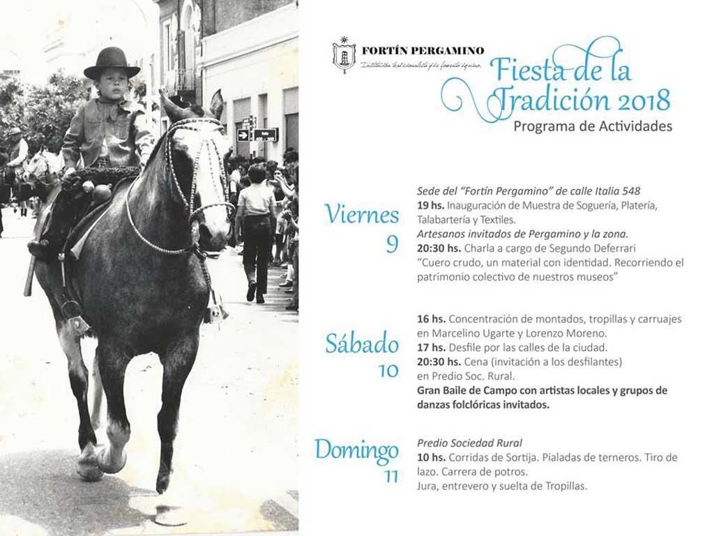 El Fortín Pergamino festejará el Día de la Tradición con un gran cronograma de actividades