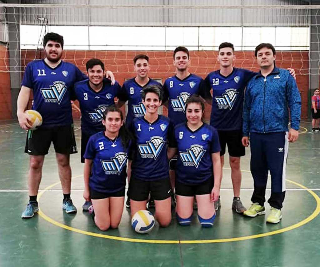 Voley: el equipo mixto del CEF jugó en Campana a fase inter-regional