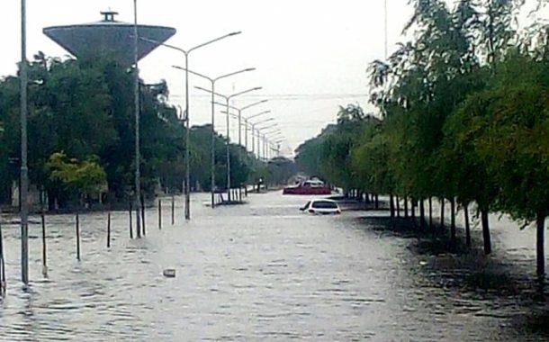 Se inundó la ciudad de Pehuajó: cayeron más de 100 milímetros en 3 horas