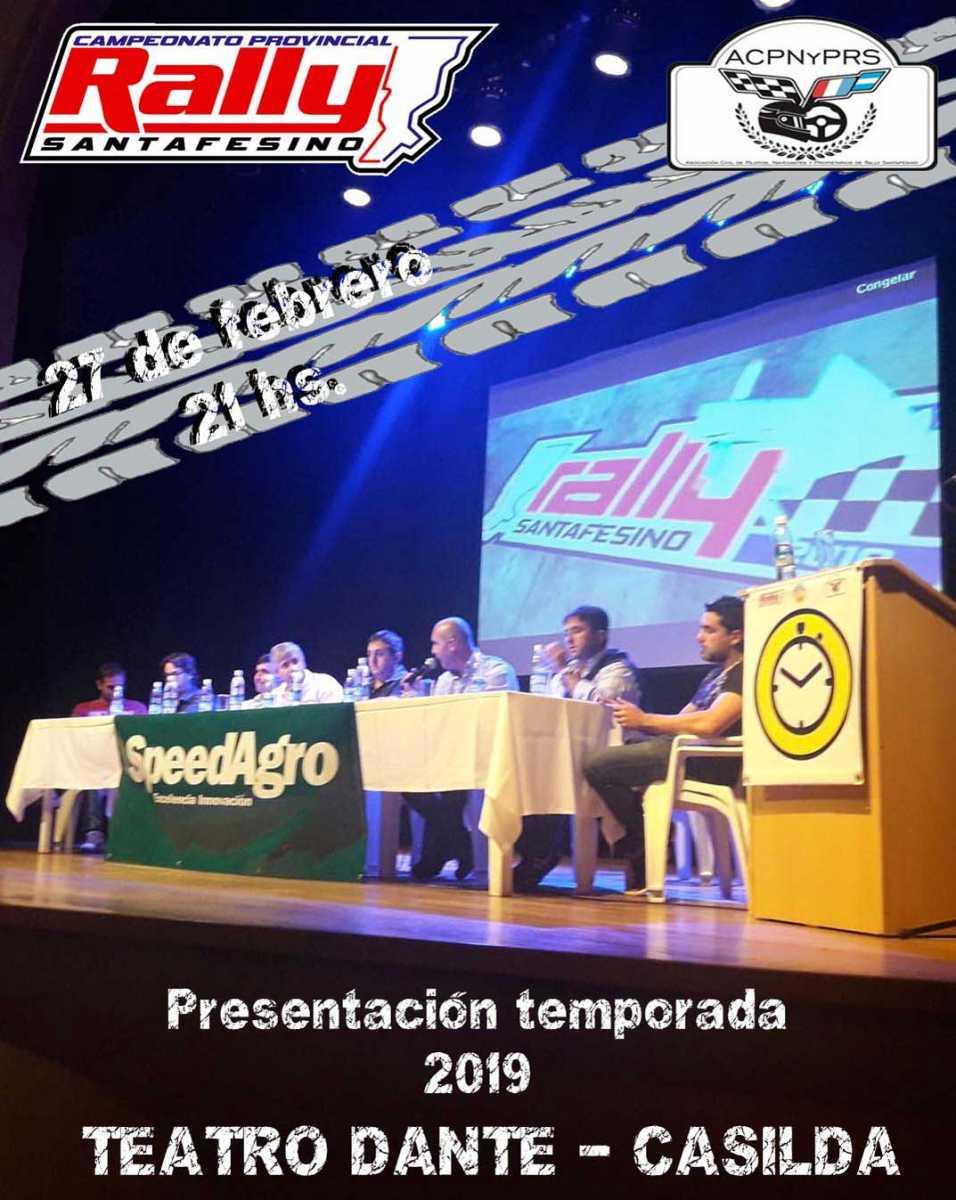 Rally Santafesino: Se presenta la temporada 2019 en Casilda