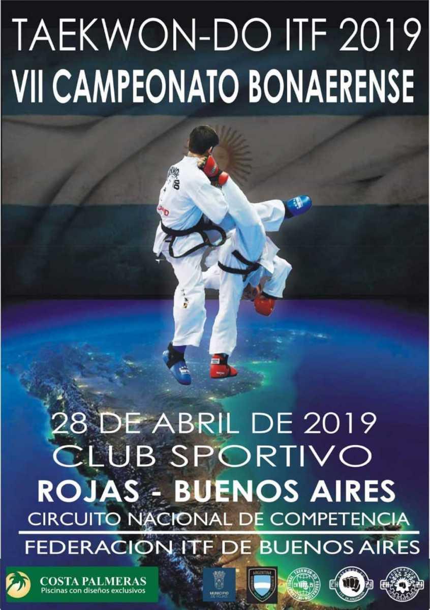 El 7º Campeonato Bonaerense 2019 de Taekwondo ITF se realizará en Rojas