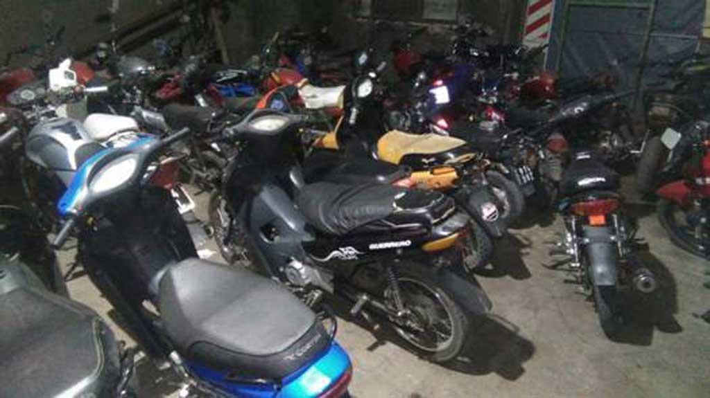 Secuestran 27 motos en distintos operativos