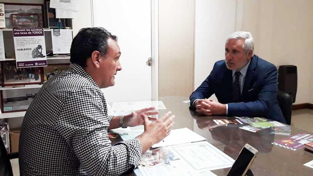 Olaeta recibió a Conte Grand e intercambiaron temas de agenda